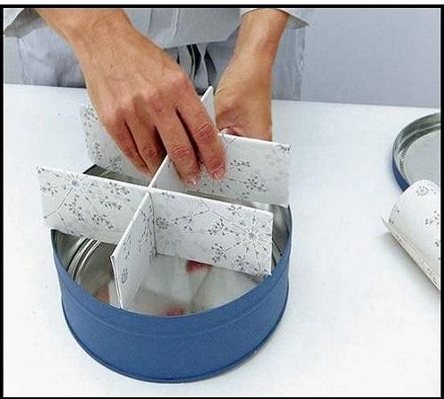 Daur Ulang Kaleng Bekas Biskuit menjadi Tea Tin Box atau Wadah Teh 1