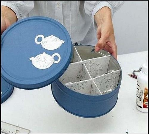 Daur Ulang Kaleng Bekas Biskuit menjadi Tea Tin Box atau Wadah Teh 2