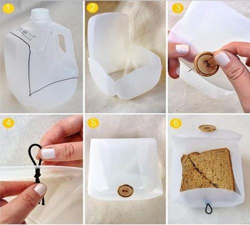 Kreasi Unik Wadah Sandwich atau Lunch Box dari Jerigen Bekas 1