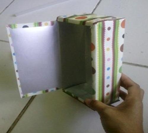 Membuat Lemari Boneka dari Kotak atau Karton Bekas Susu 1