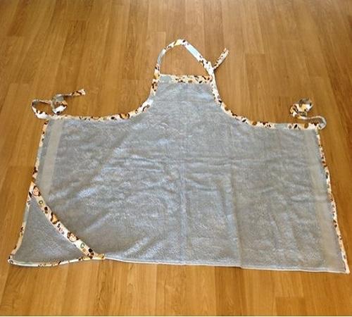 Celemek Handuk Mandi atau Bath Towel Apron untuk Si Buah Hati 2