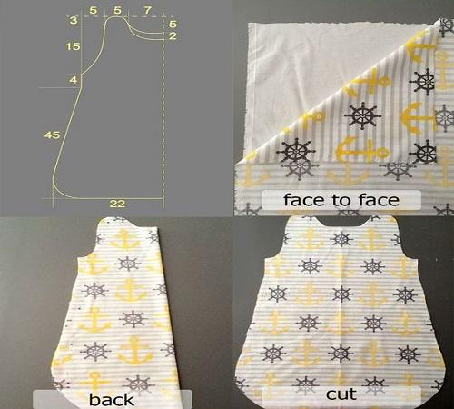 cara-membuat-baju-karung-tidur-bayi