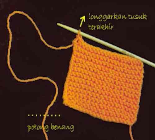Bagaimana Cara Menutup Rajutan/Mengakhiri Rajut Knitting