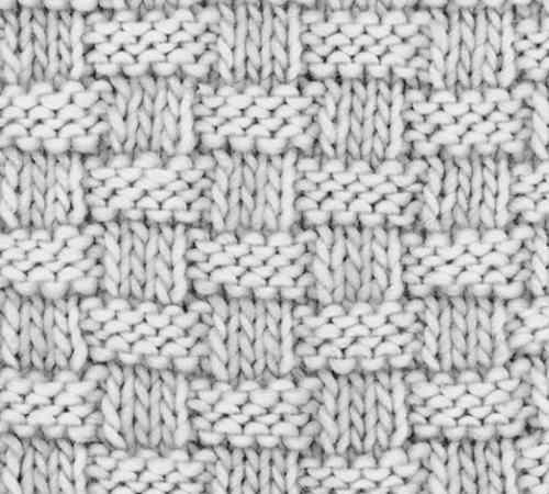 Cara Membuat Pola Rajutan Basketweave Stitch
