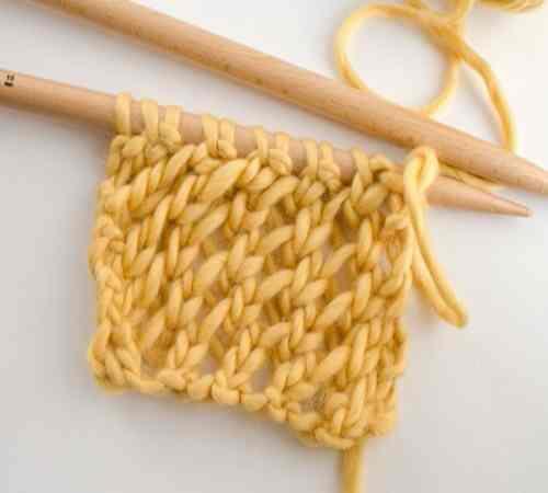 Tutorial Membuat Motif Rajutan The Netted Stitch