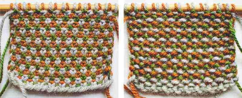 Langkah Membuat Motif Rajutan The Linen Stitch