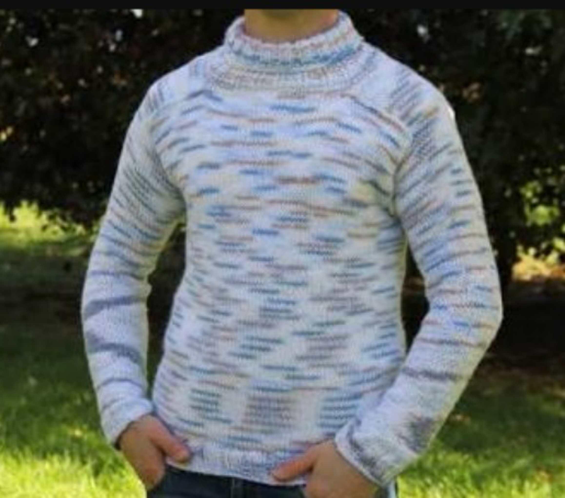 Cara merajut sweater laki-laki untuk pemula.